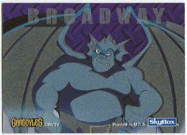 Gargoyles 1996 #5 Static Glow Sticker Card Broadway