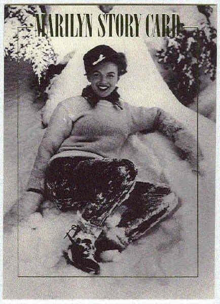 Marilyn Monroe 1993 Story Card #2 Snow Angel