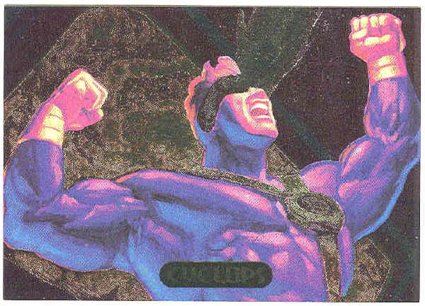 Marvel Masterpieces 1994 #4 Powerblast Card Cyclops