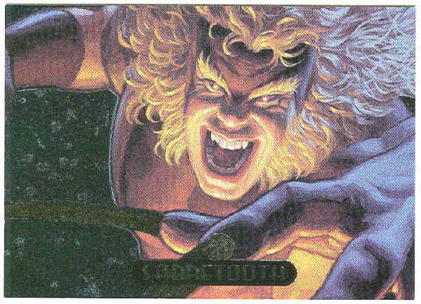 Marvel Masterpieces 1994 #8 Powerblast Card Sabretooth