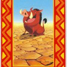 Lion King 1994 Series 2 #P7 Pop Up Chase Card Pumbaa