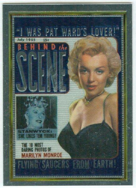Marilyn Monroe Behind The Scene Cover Girl Chromium Card
