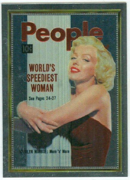 Marilyn Monroe People Cover Girl Chromium Card