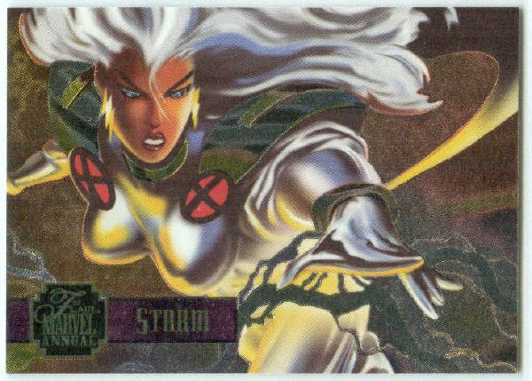 Marvel Annual 95 Flair #5 PowerBlast Chase Card Storm