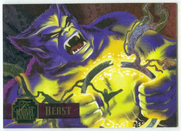 Marvel Annual 95 Flair #12 PowerBlast Chase Card Beast