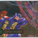 Marvel Annual 95 Flair #14 PowerBlast Card Captain America