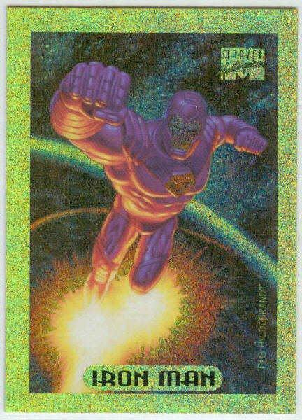 Marvel Masterpieces 1994 #5 Gold Holofoil Card Iron Man