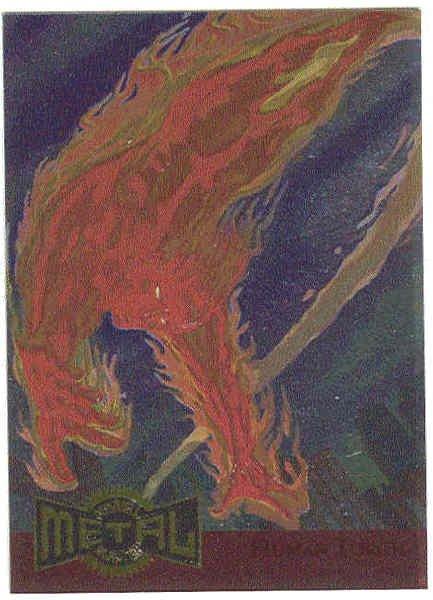 Marvel Metal 1995 #6 Blaster Chase Card Human Torch