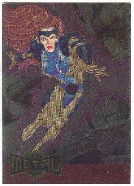 Marvel Metal 1995 #8 Blaster Chase Card Jean Grey