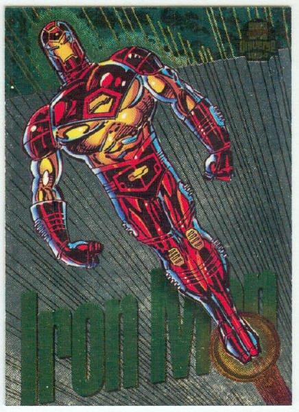 Marvel Universe 1994 Silver #7 Powerblast Card Iron Man