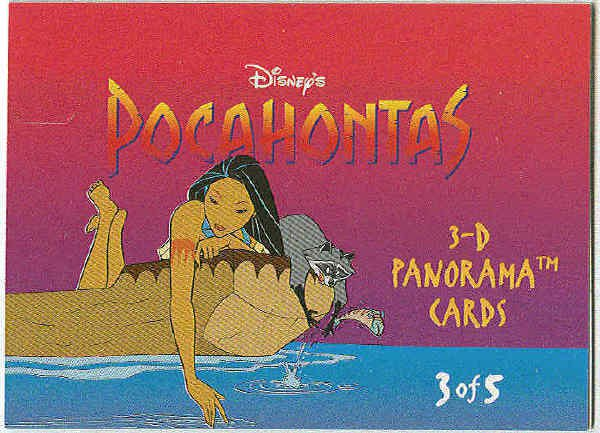 Pocahontas 1995 3D Panorama #3 Chase Trading Card