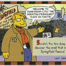 Simpsons 1994 #2 Smell-A-Rama Trading Card Springfield