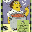 Simpsons 1994 #10 Smell-A-Rama Trading Card Lunchlady Doris