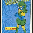 Simpsons 1994 Radioactive Man #R4 Larceny Lass Card