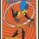 Simpsons 1994 Radioactive Man #R9 Weasel Woman Card