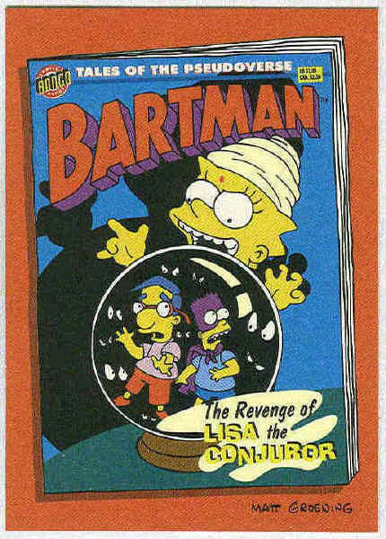 Simpsons 1994 Bartman #B2 Chase Card Lisa The Conjuror