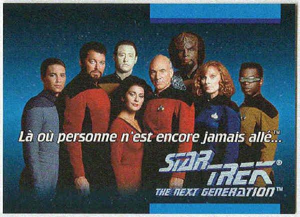 Star Trek TNG #O1D French Language Trading Card