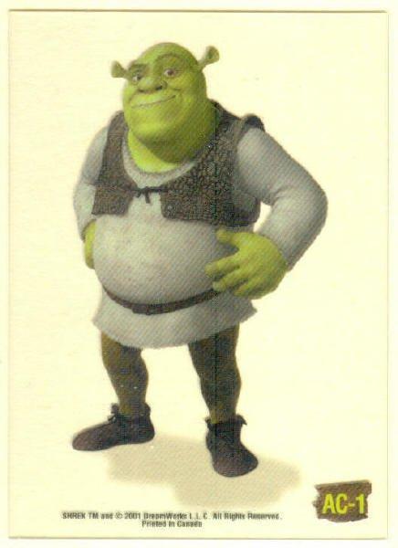 Shrek Animation Cel AC-1 Shrek Chase Trading Card