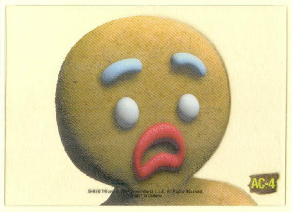 Shrek Animation Cel AC-4 Sad Cookie Chase Trading Card