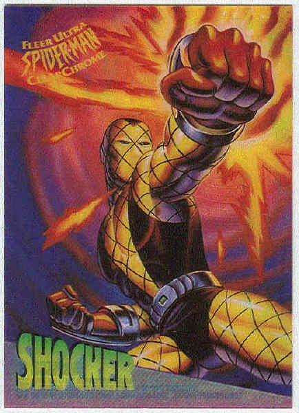 Spider-Man Fleer Clear Chrome #8 Chase Card Shocker
