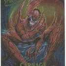 Spider-Man Fleer Masterpieces #3 Carnage Chromium Card