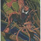 Spider-Man Fleer Golden Web #2 Carnage Chromium Card