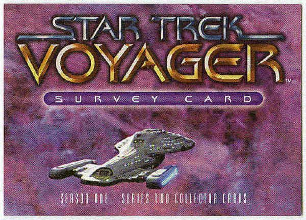 Star Trek Voyager Season 1 Series 2 Survey Card