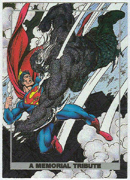 Superman Doomsday #S1 Foil Card A Memorial Tribute