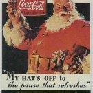 Coca Cola Series 1 #S1 Santa Foil Card 1931