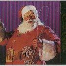 Coca Cola Series 4 #S38 Santa Foil Card Christmas Tree