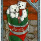 Coca Cola Premium #SPB-2 Engraved Foil Polar Bear Card