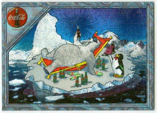 Coca Cola Super Premium #SPB-8 Engraved Foil Polar Bear Card