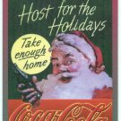 Coca Cola Super Premium #1 Embossed Chase Card Santa