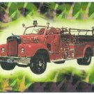 Fire Engines Series 2 #12 Prism Card 1954 Mack B-85