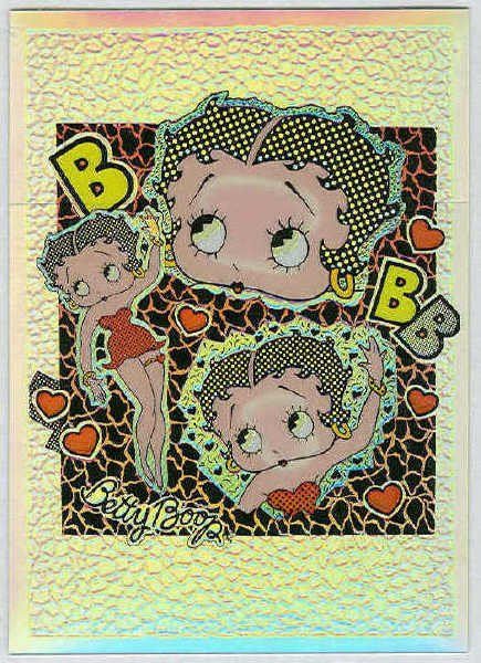 Betty Boop Pin-Ups #21 Chromium Sticker Parallel Card