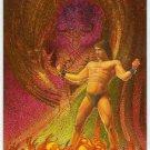 James Warhola #M5 Metallic Storm Chase Card Fire Demon