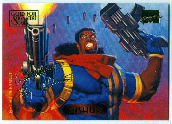 Marvel Masterpieces 1994 #4 Gold Foil Signature Card