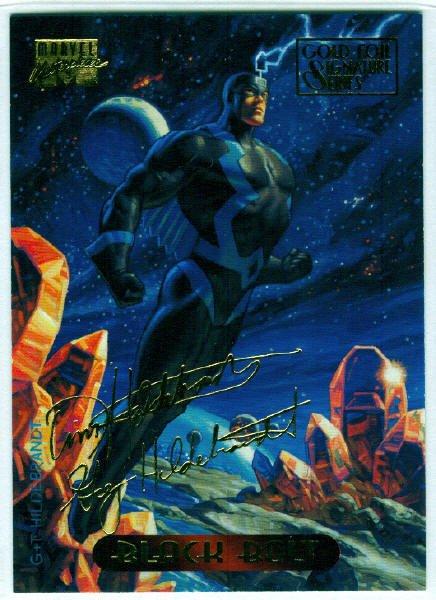 Marvel Masterpieces 1994 #5 Gold Foil Signature Card