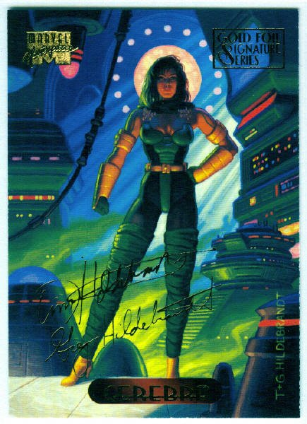 Marvel Masterpieces 1994 #22 Gold Foil Signature Card