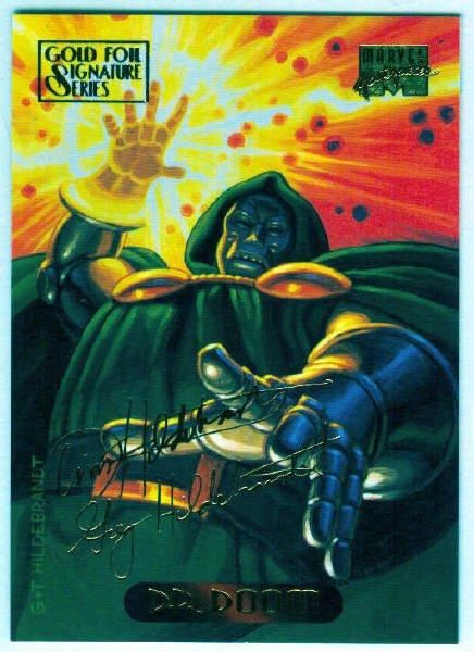 Marvel Masterpieces 1994 #31 Gold Foil Signature Card