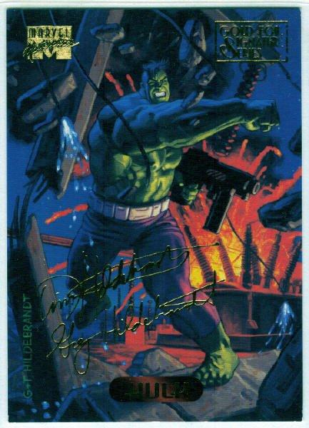 Marvel Masterpieces 1994 #50 Gold Foil Signature Card