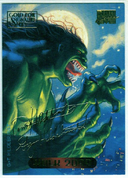 Marvel Masterpieces 1994 #51 Gold Foil Signature Card