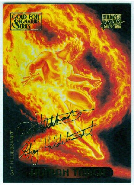 Marvel Masterpieces 1994 #52 Gold Foil Signature Card