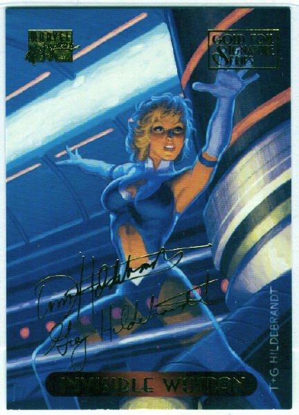 Marvel Masterpieces 1994 #55 Gold Foil Signature Card