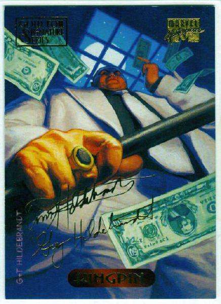 Marvel Masterpieces 1994 #62 Gold Foil Signature Card