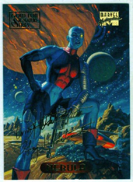 Marvel Masterpieces 1994 #82 Gold Foil Signature Card