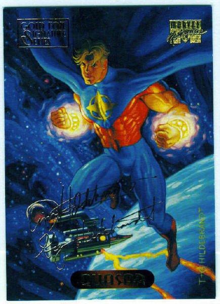 Marvel Masterpieces 1994 #96 Gold Foil Signature Card