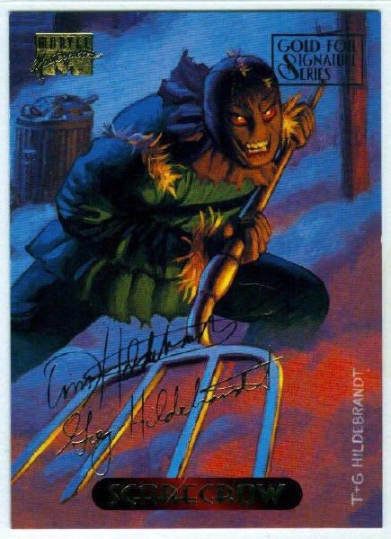 Marvel Masterpieces 1994 #104 Gold Foil Signature Card