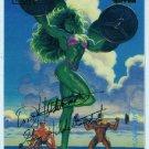 Marvel Masterpieces 1994 #108 Gold Foil Signature Card