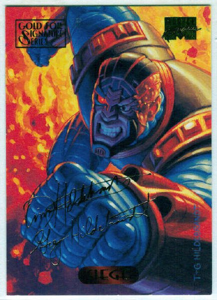 Marvel Masterpieces 1994 #109 Gold Foil Signature Card